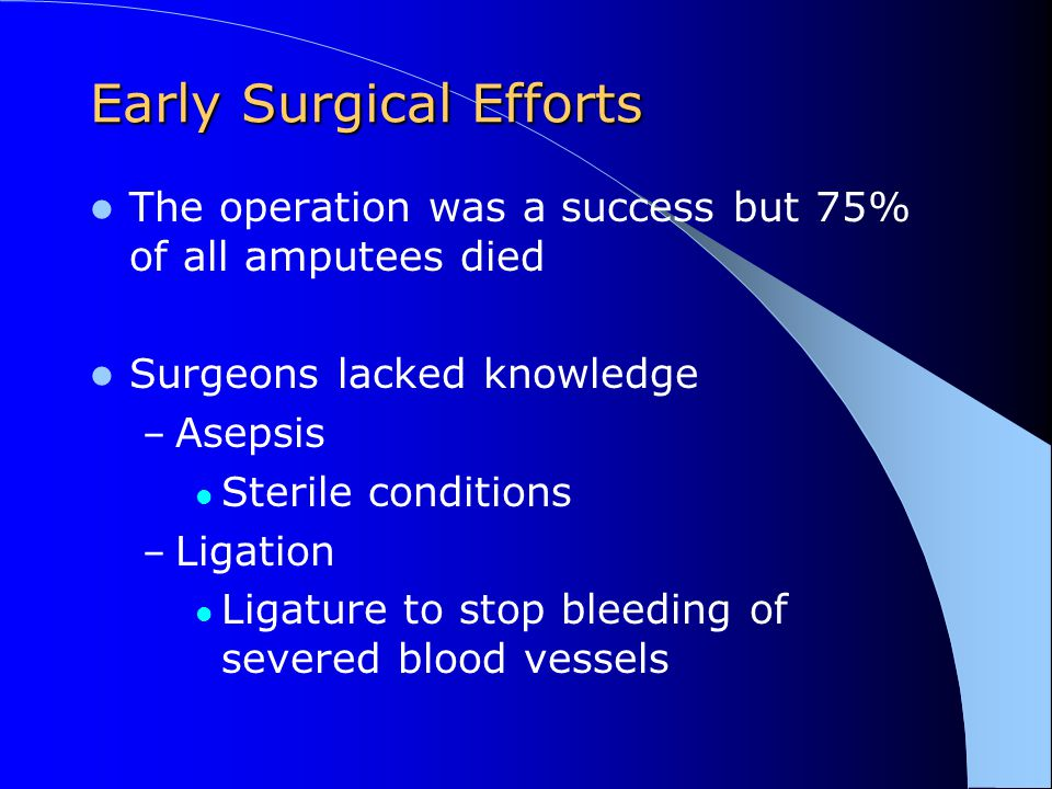 Early Surgical Efforts