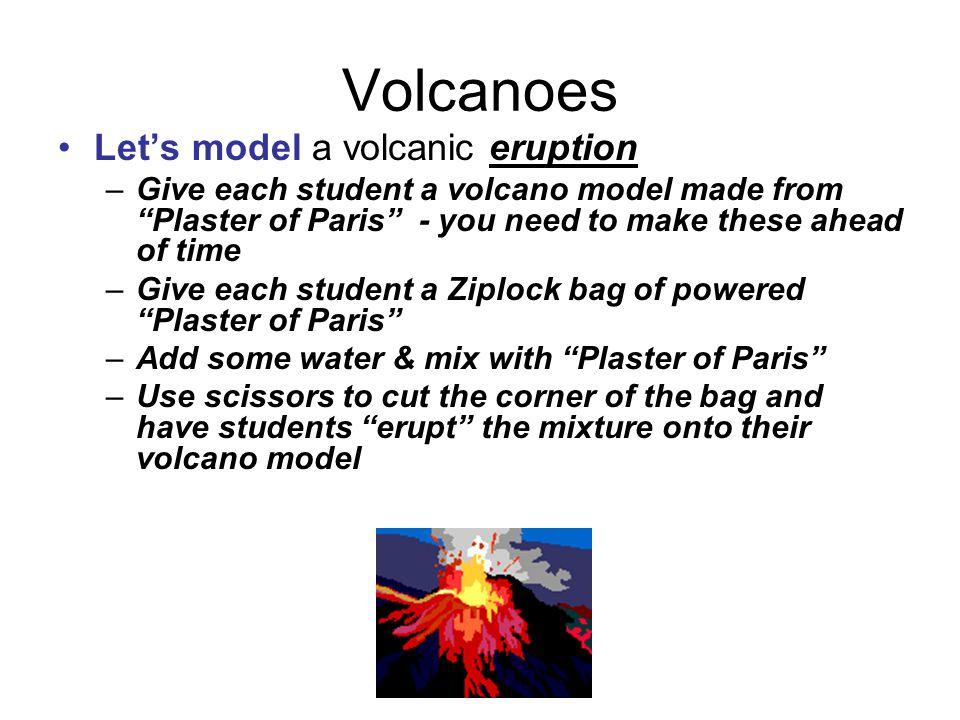 Volcanoes Let's model a volcanic eruption