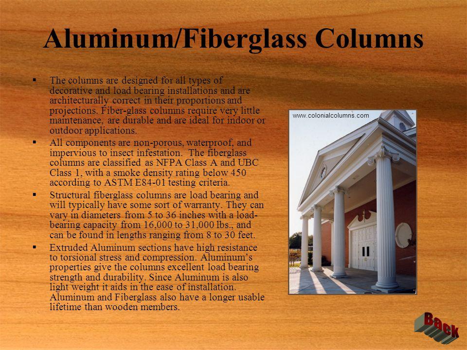 Aluminum/Fiberglass Columns