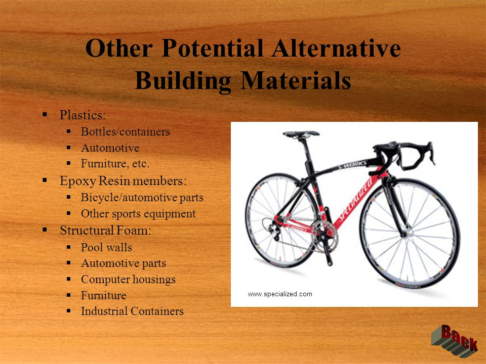 Other Potential Alternative Building Materials