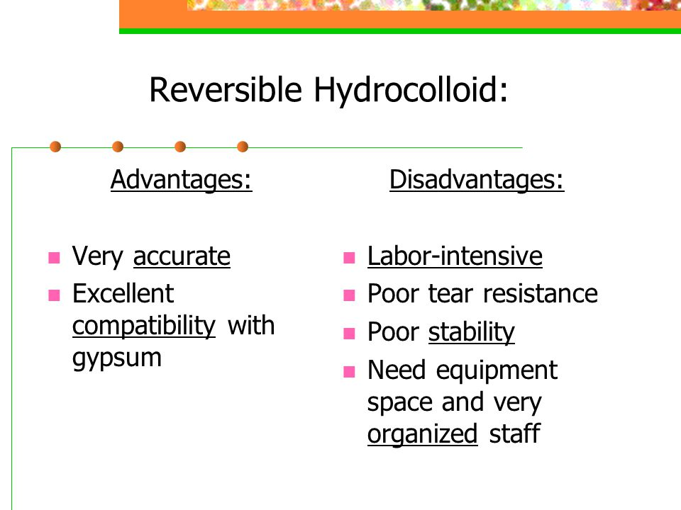 Reversible Hydrocolloid: