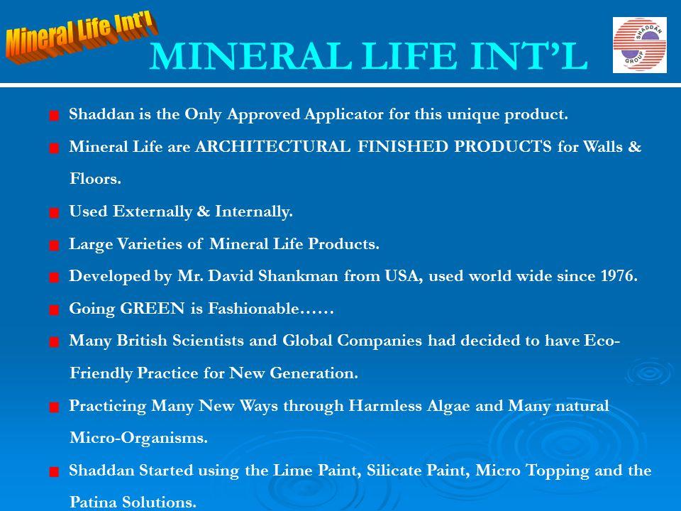 MINERAL LIFE INT'L Mineral Life Int l