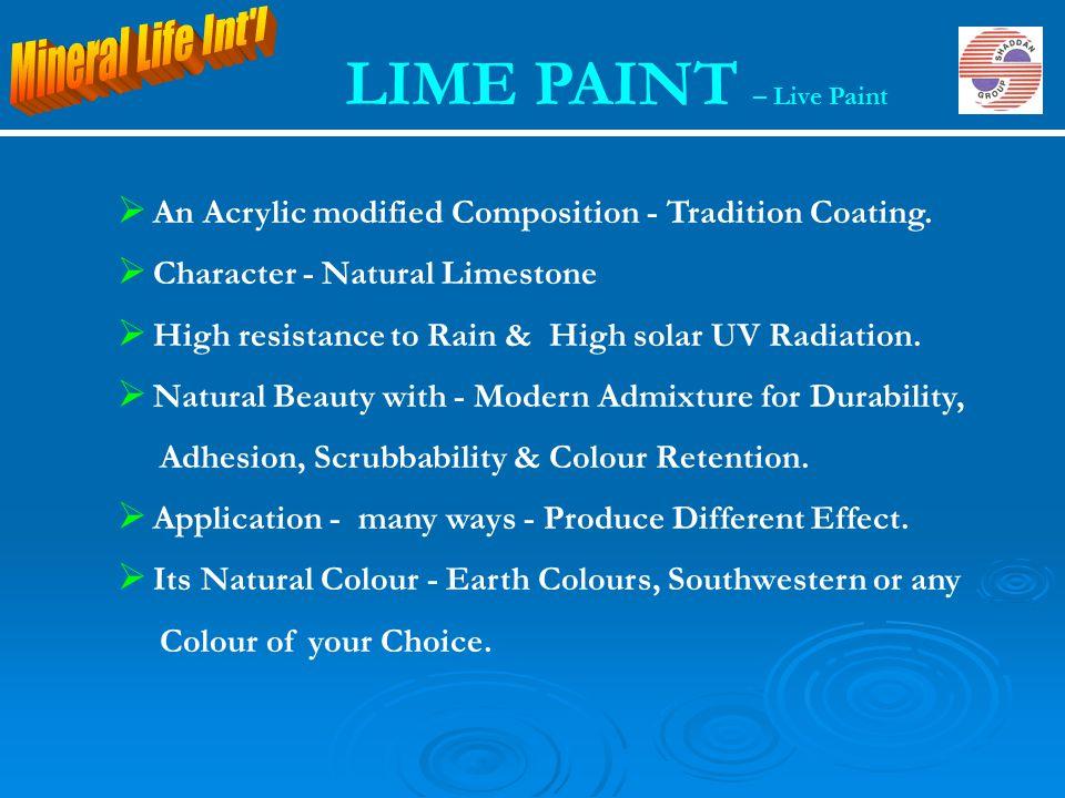 LIME PAINT – Live Paint Mineral Life Int l
