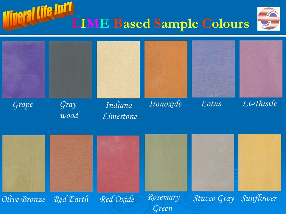LIME Based Sample Colours