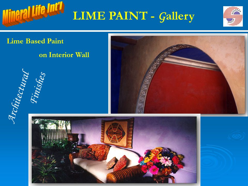 LIME PAINT - Gallery Finishes Architectural Mineral Life Int l