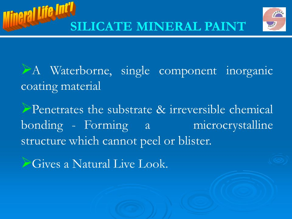 SILICATE MINERAL PAINT