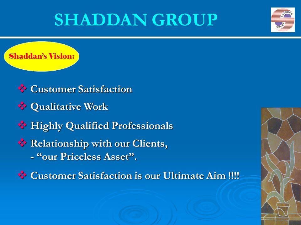 SHADDAN GROUP Customer Satisfaction Qualitative Work