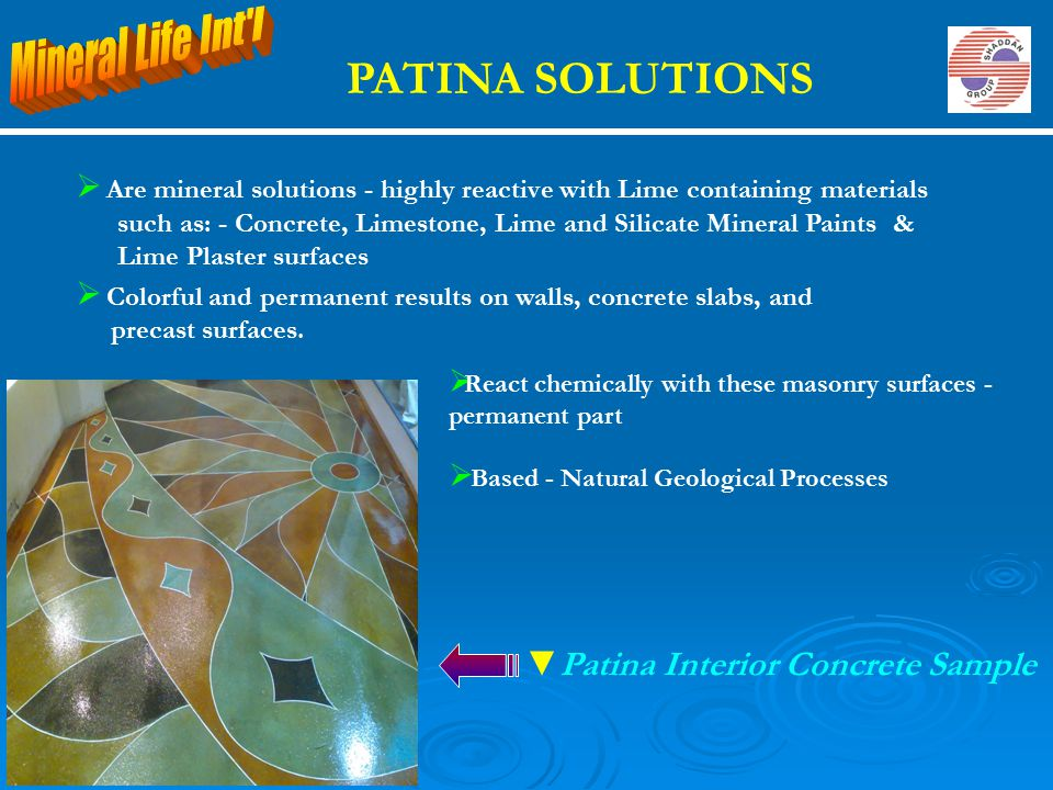 PATINA SOLUTIONS Mineral Life Int l Patina Interior Concrete Sample