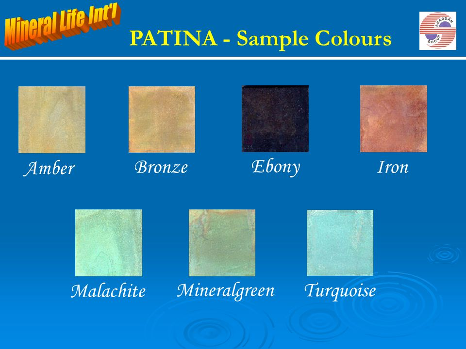 PATINA - Sample Colours