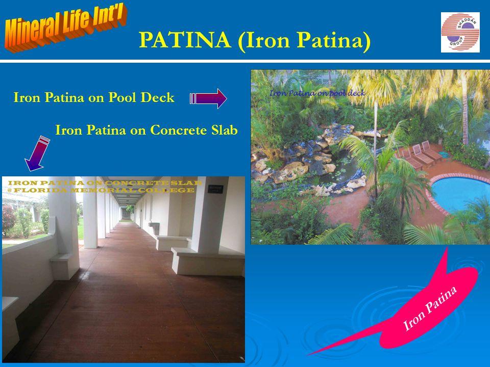 PATINA (Iron Patina) Mineral Life Int l Iron Patina on Pool Deck