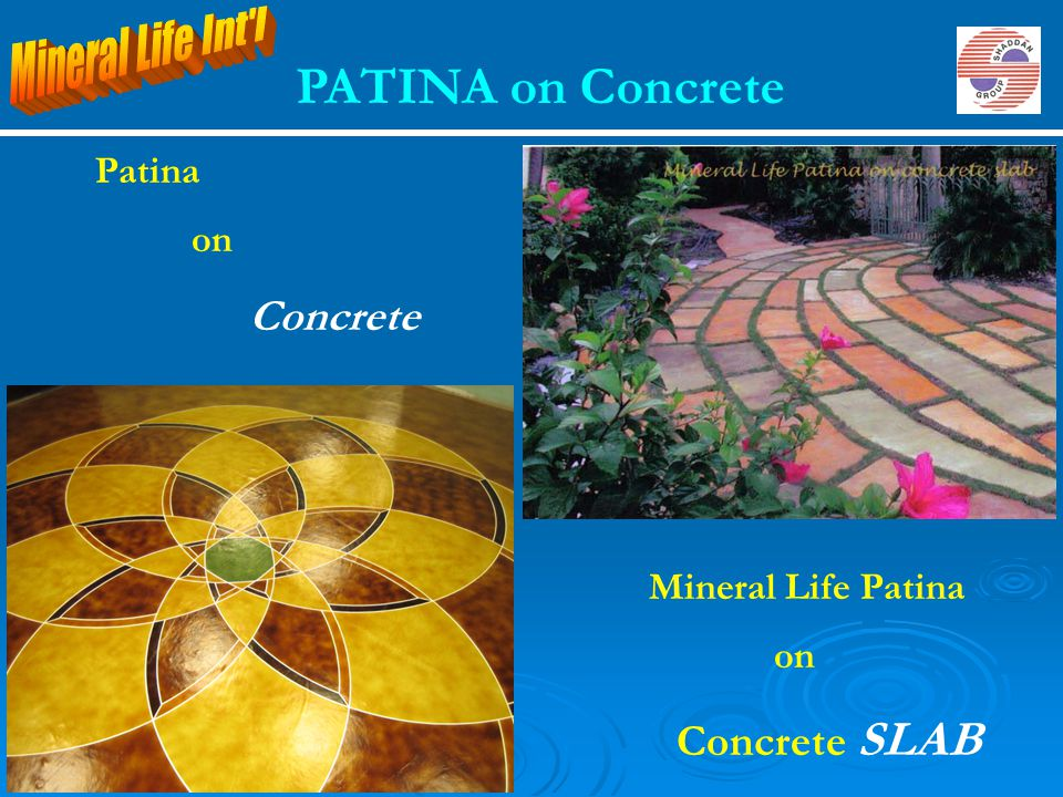 PATINA on Concrete Mineral Life Int l Patina on Concrete