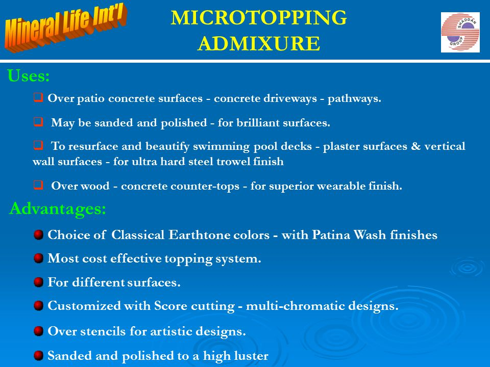 MICROTOPPING ADMIXURE