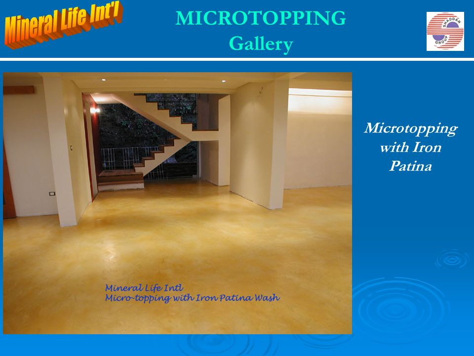 Microtopping with Iron Patina