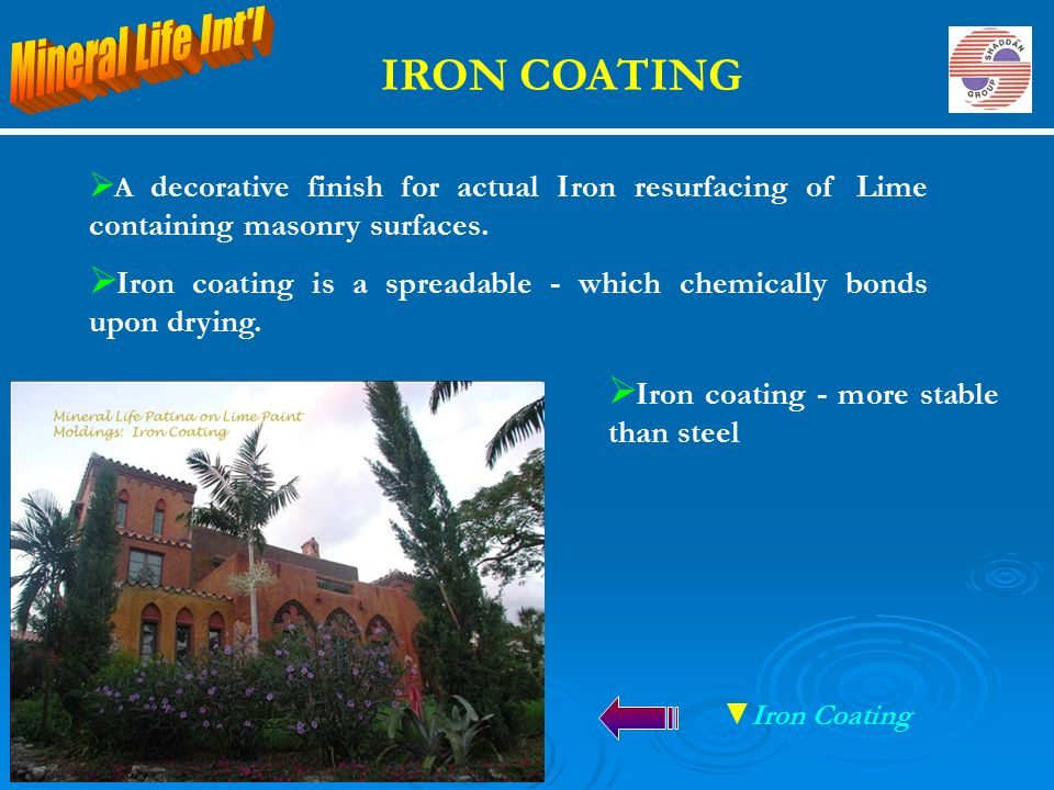IRON COATING Mineral Life Int l