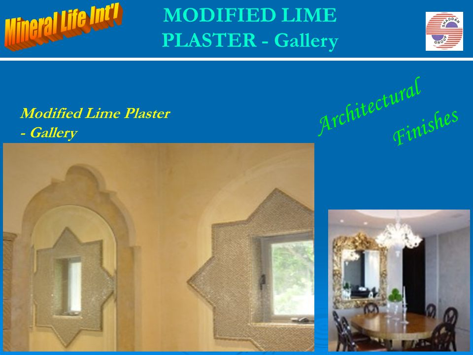 MODIFIED LIME PLASTER - Gallery