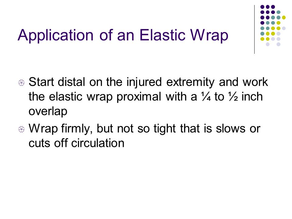 Application of an Elastic Wrap