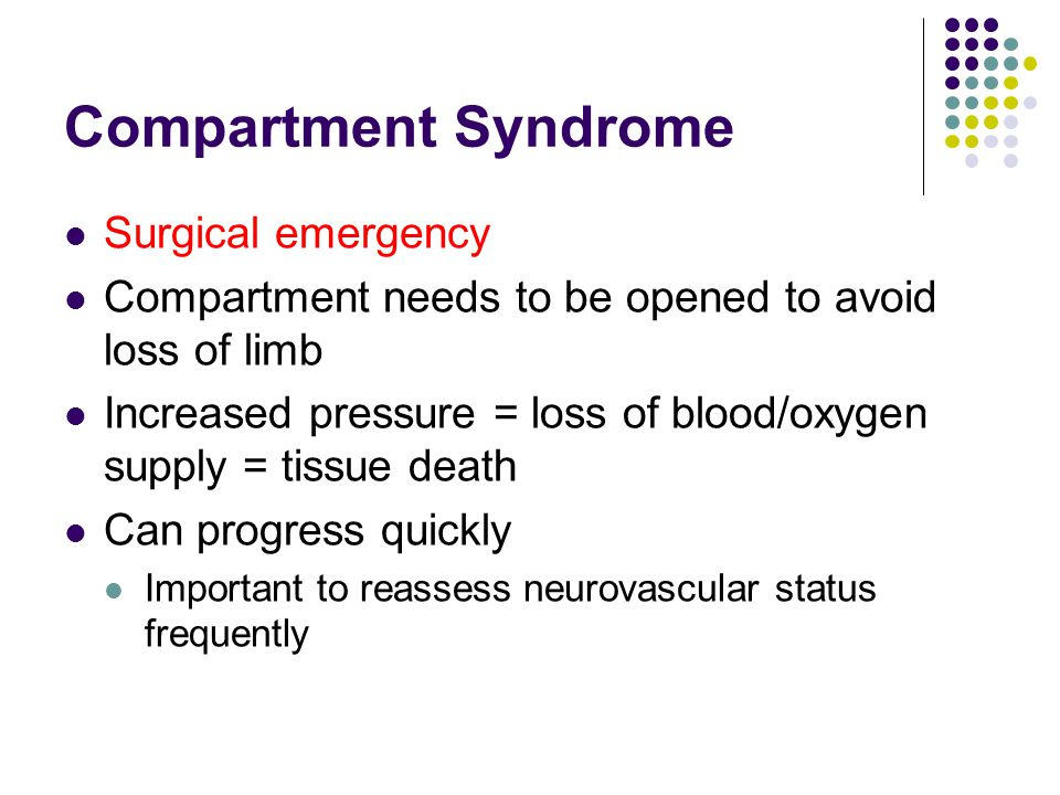 Compartment Syndrome Surgical emergency