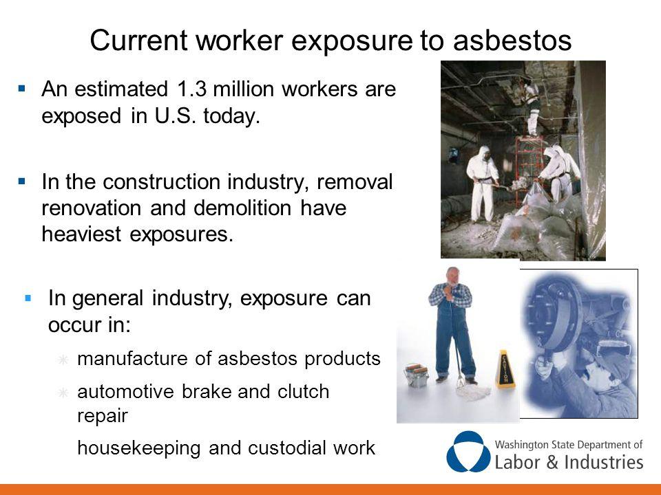 Current worker exposure to asbestos