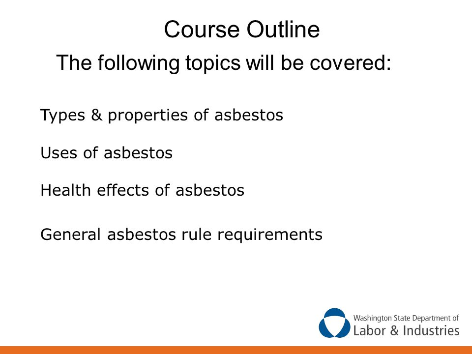 Course Outline The following topics will be covered: