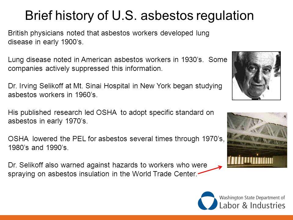 Brief history of U.S. asbestos regulation