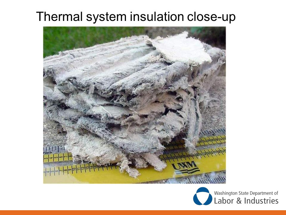 Thermal system insulation close-up