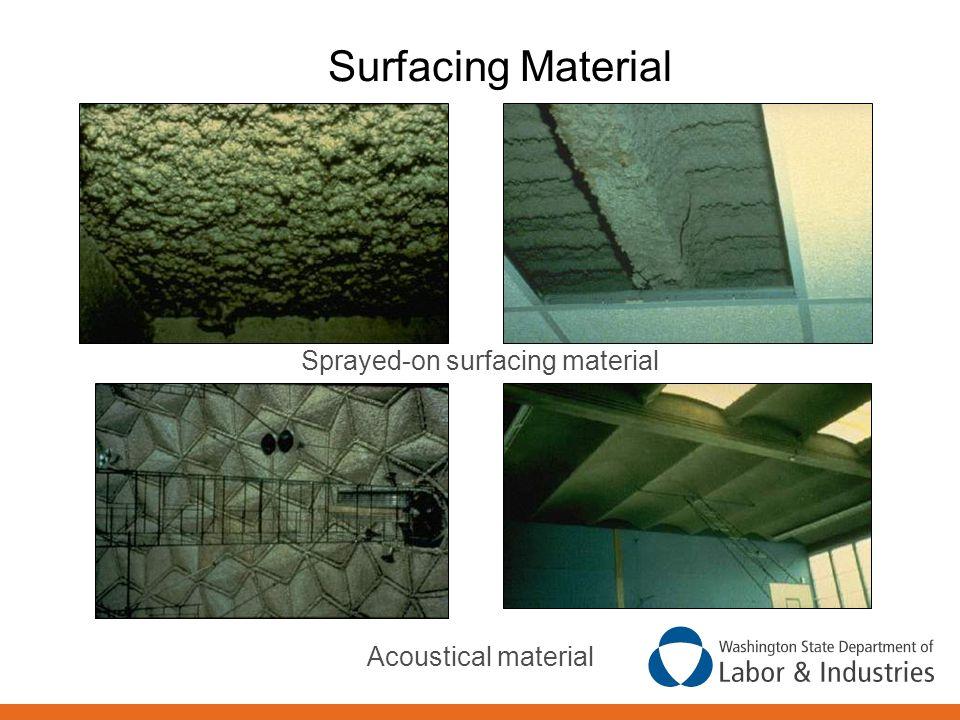 Sprayed-on surfacing material