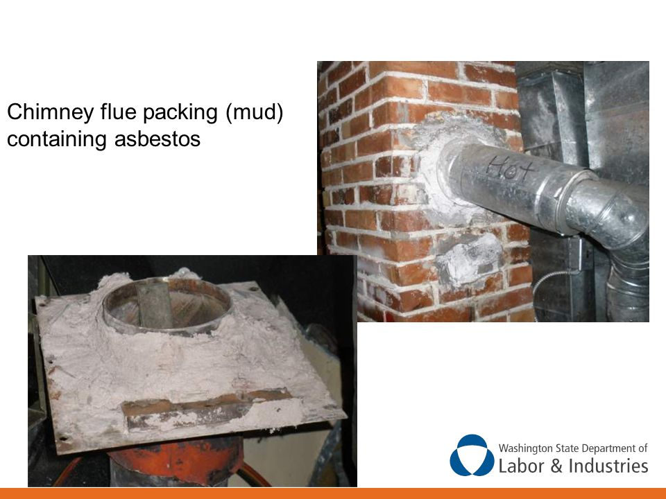 Chimney flue packing (mud) containing asbestos