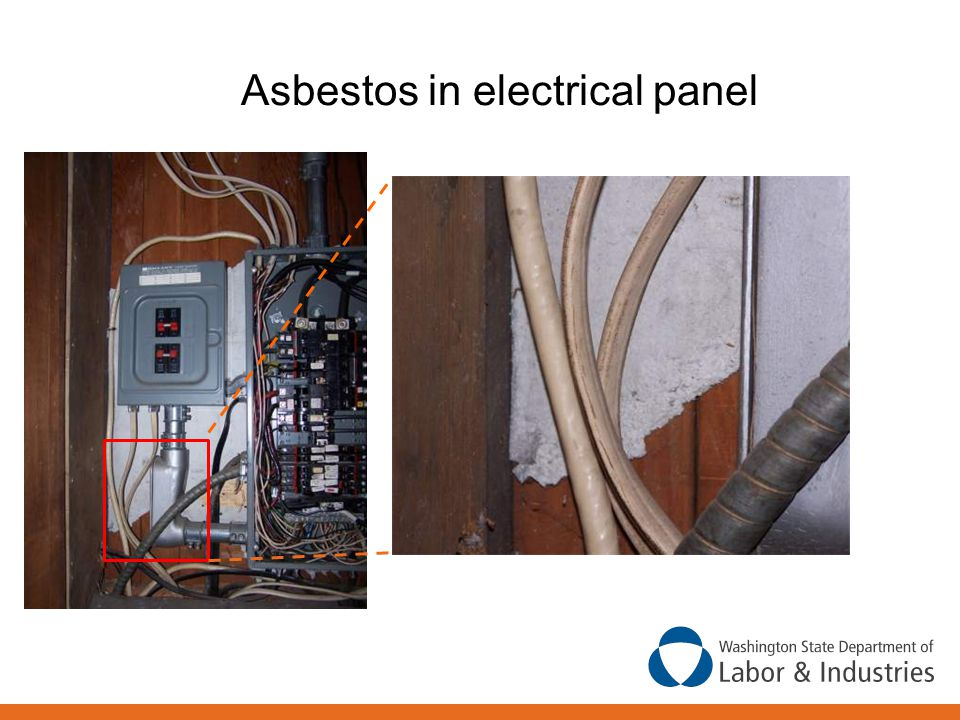 Asbestos in electrical panel