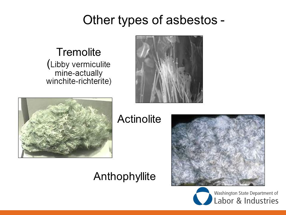 Other types of asbestos -