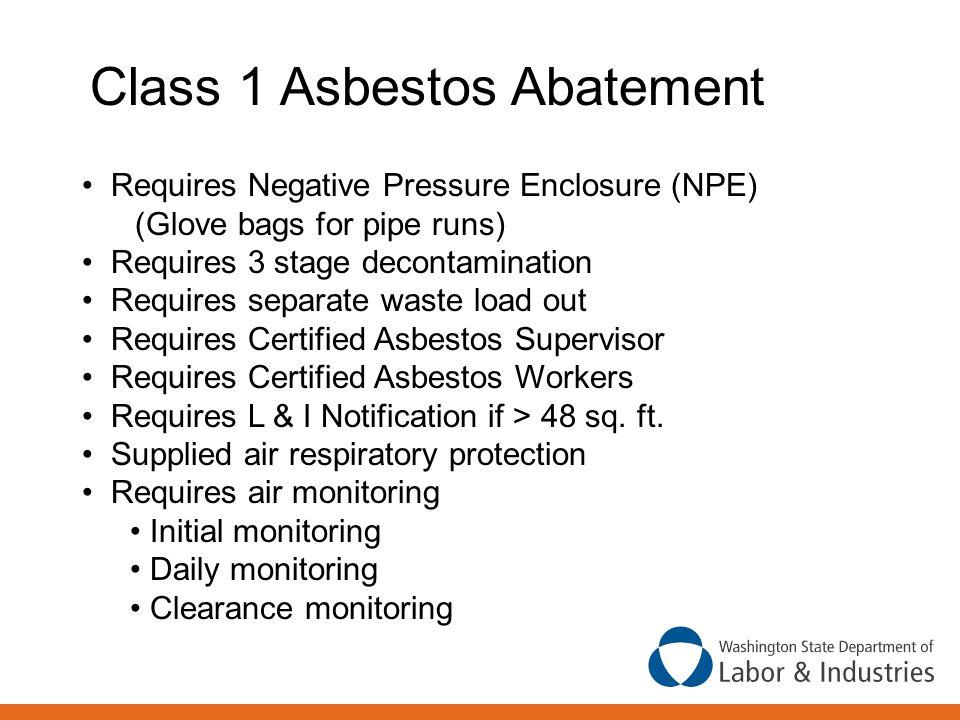 Class 1 Asbestos Abatement
