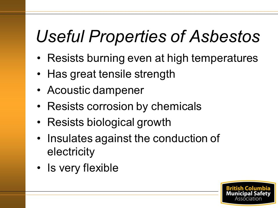 Useful Properties of Asbestos