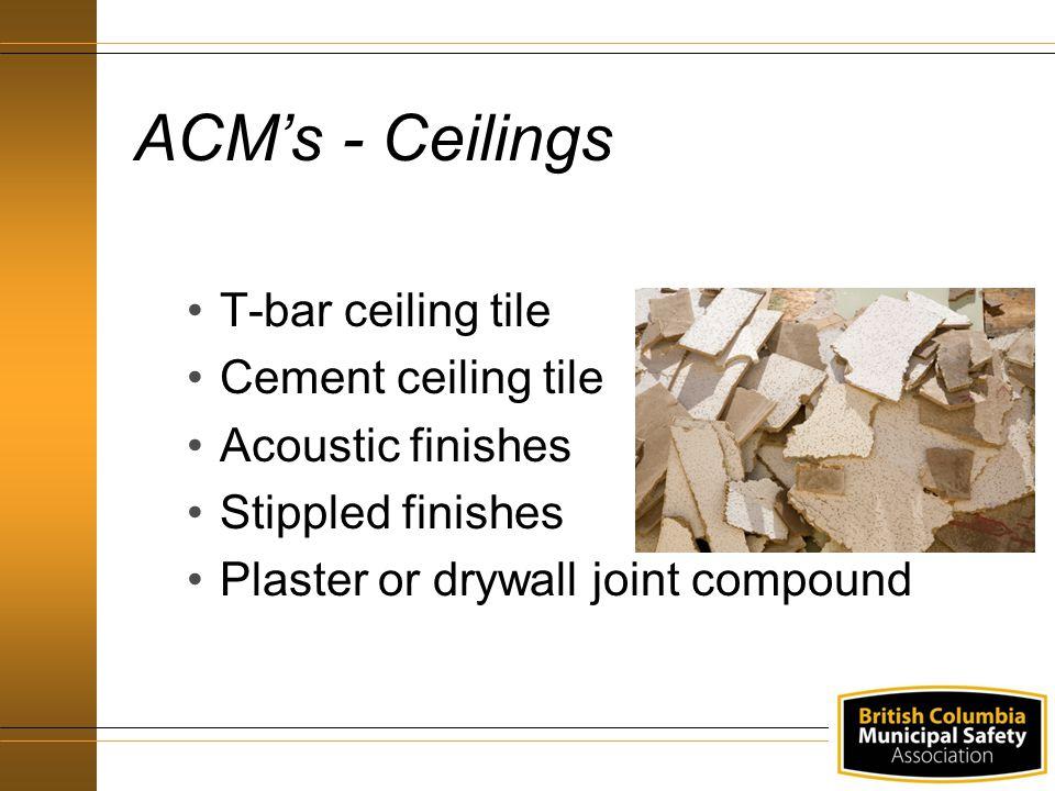 ACM's - Ceilings T-bar ceiling tile Cement ceiling tile