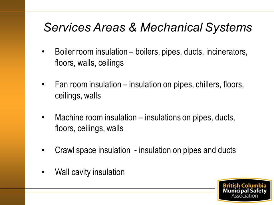 Services Areas & Mechanical Systems