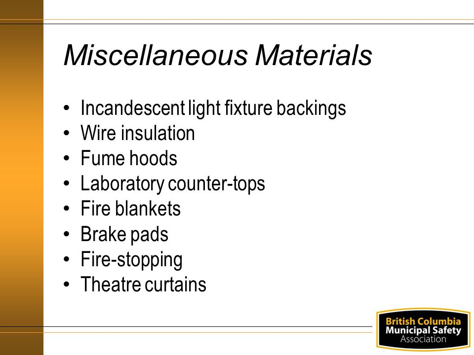 Miscellaneous Materials