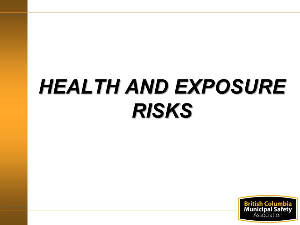 HEALTH AND EXPOSURE RISKS