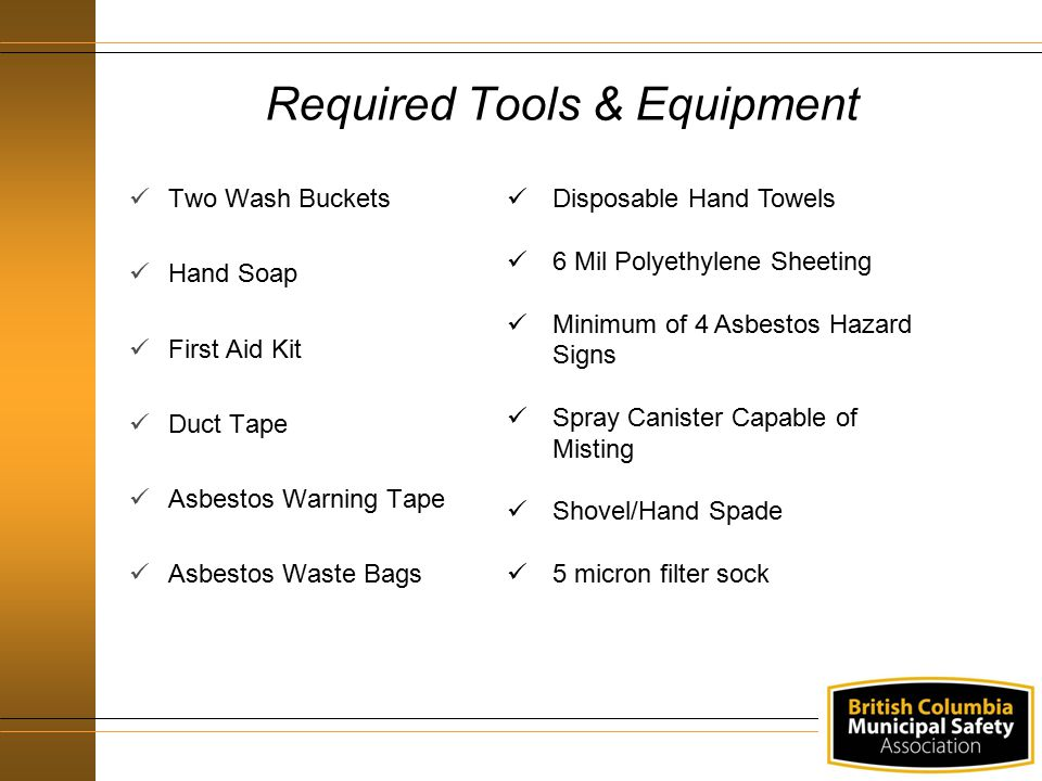 Required Tools & Equipment