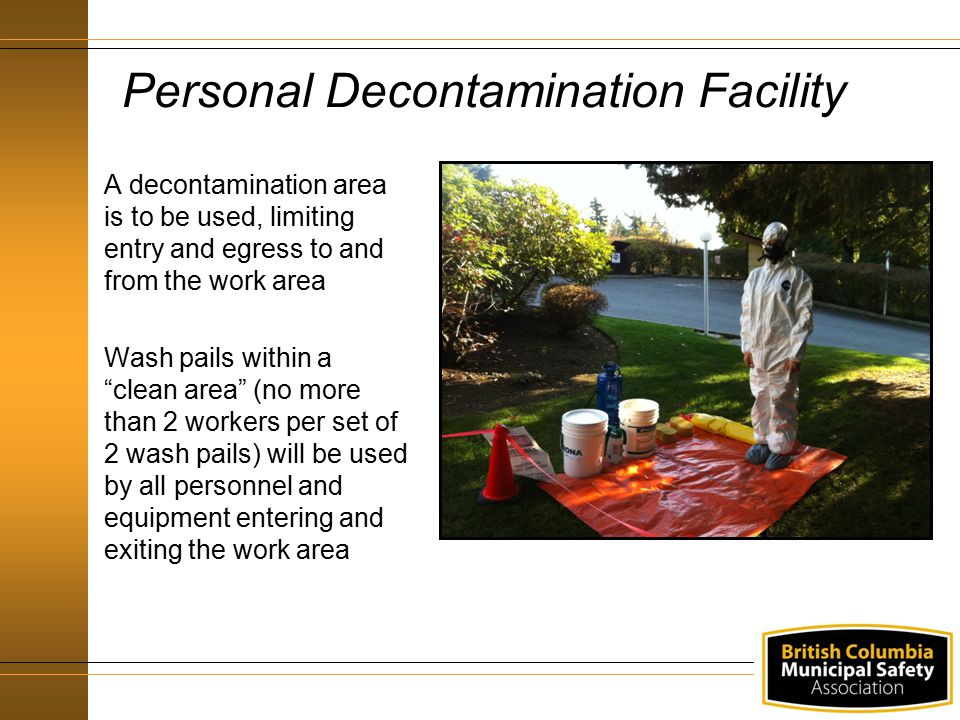 Personal Decontamination Facility
