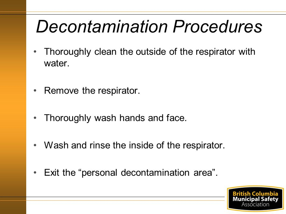Decontamination Procedures