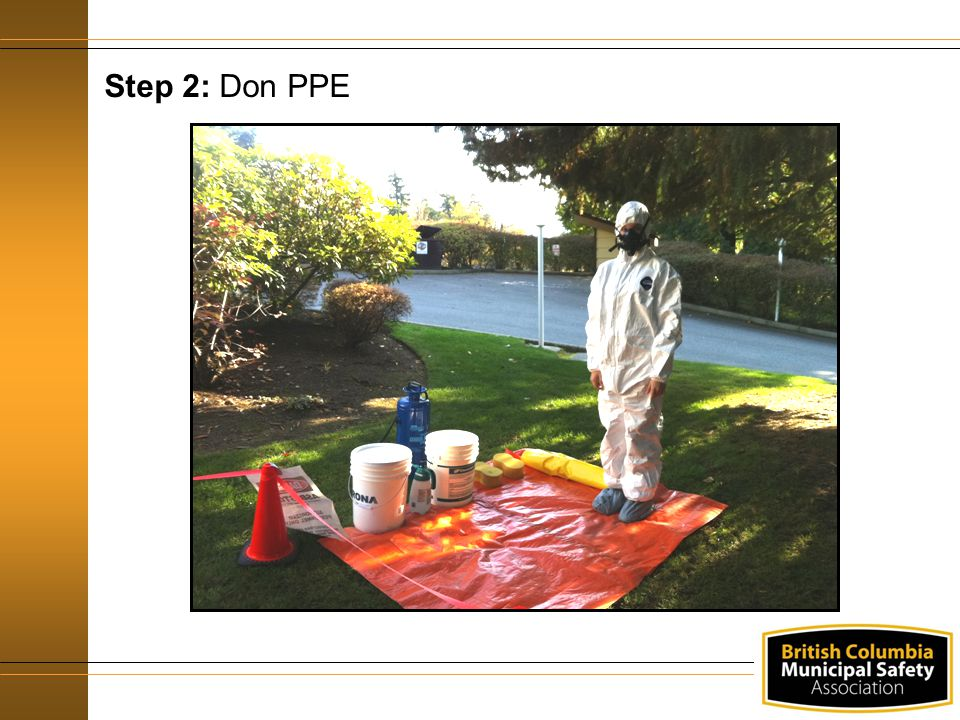 Step 2: Don PPE