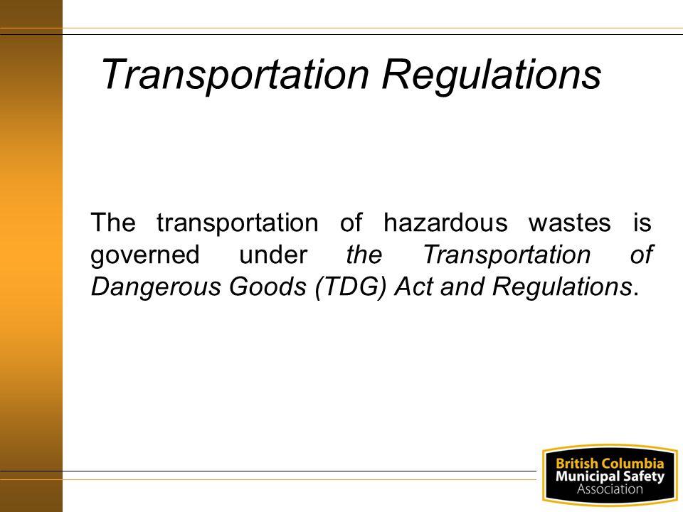 Transportation Regulations
