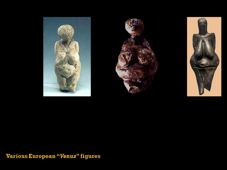 Various European Venus figures