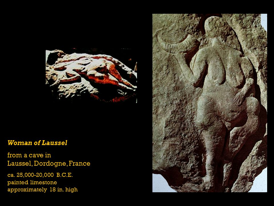 from a cave in Laussel, Dordogne, France