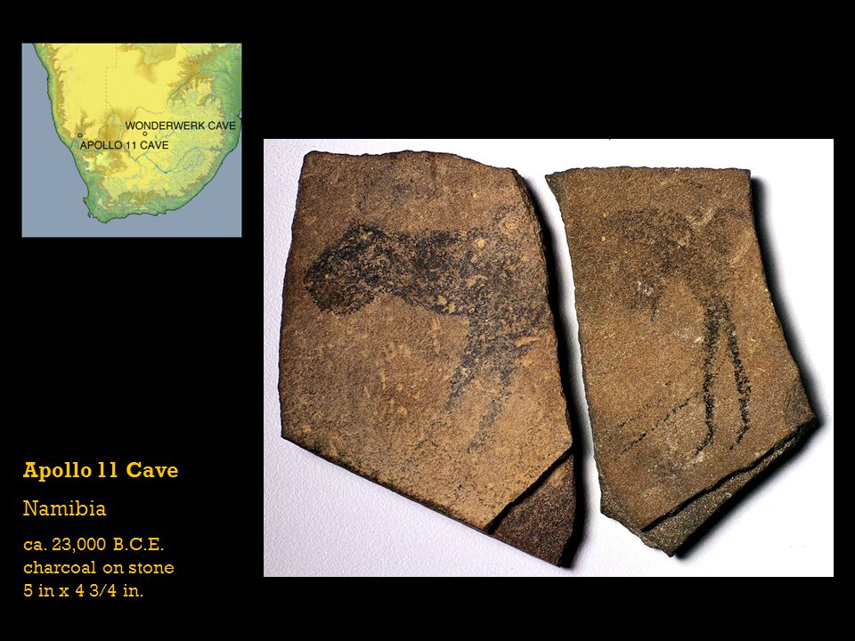 Apollo 11 Cave Namibia ca. 23,000 B.C.E. charcoal on stone