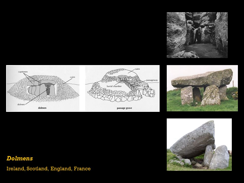 Dolmens Ireland, Scotland, England, France