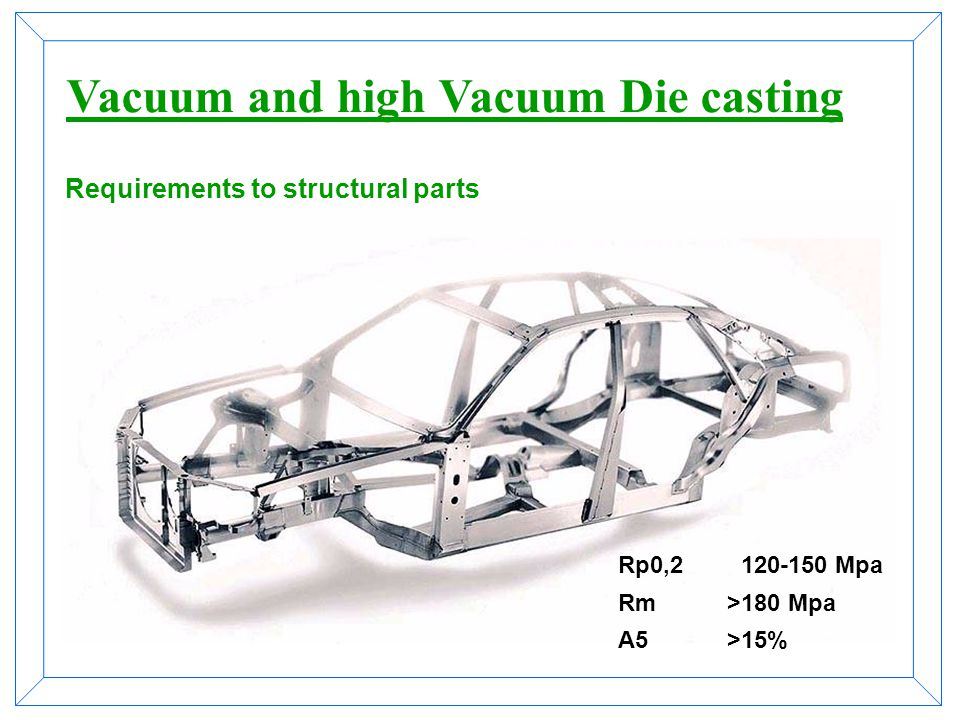 Vacuum and high Vacuum Die casting