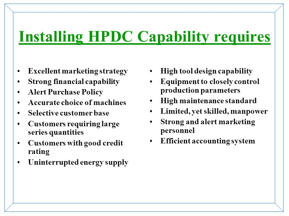 Installing HPDC Capability requires