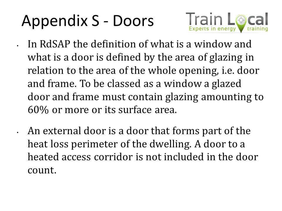 Appendix S - Doors