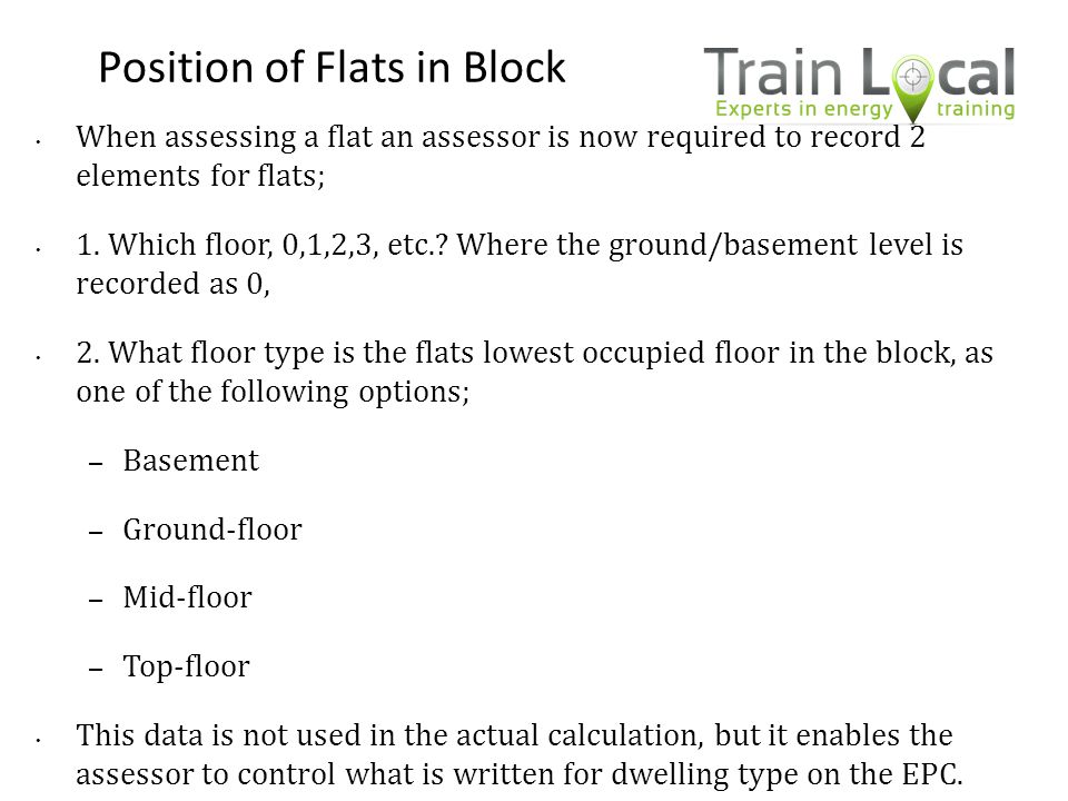 Position of Flats in Block