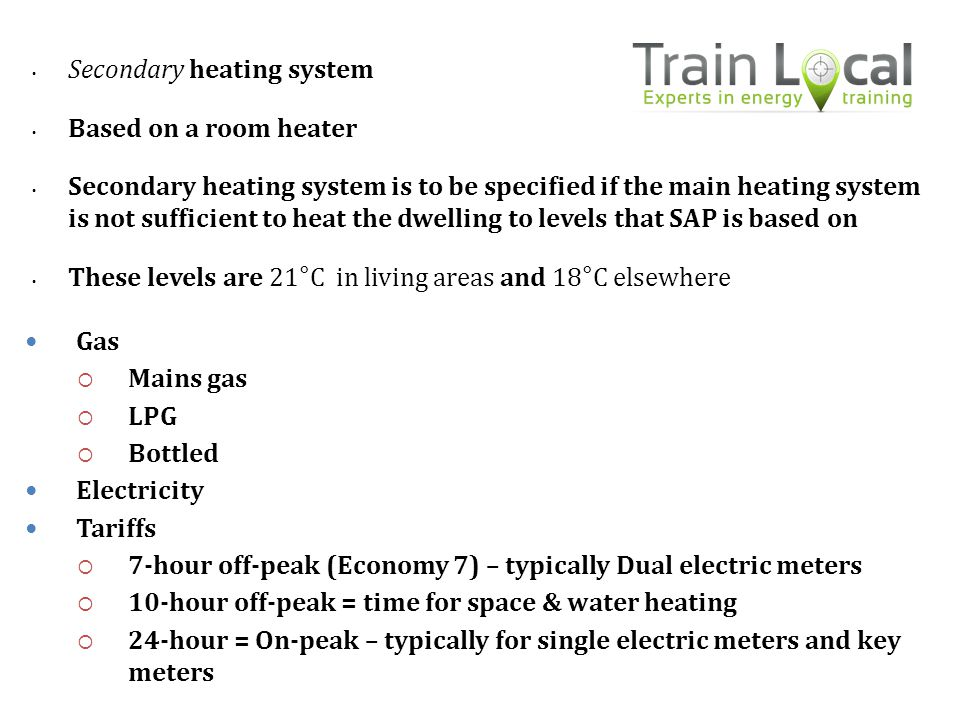 Secondary heating system