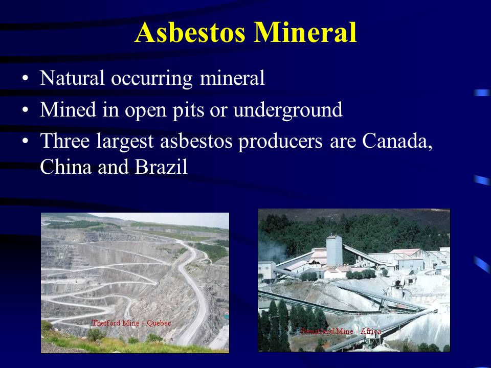 Asbestos Mineral Natural occurring mineral